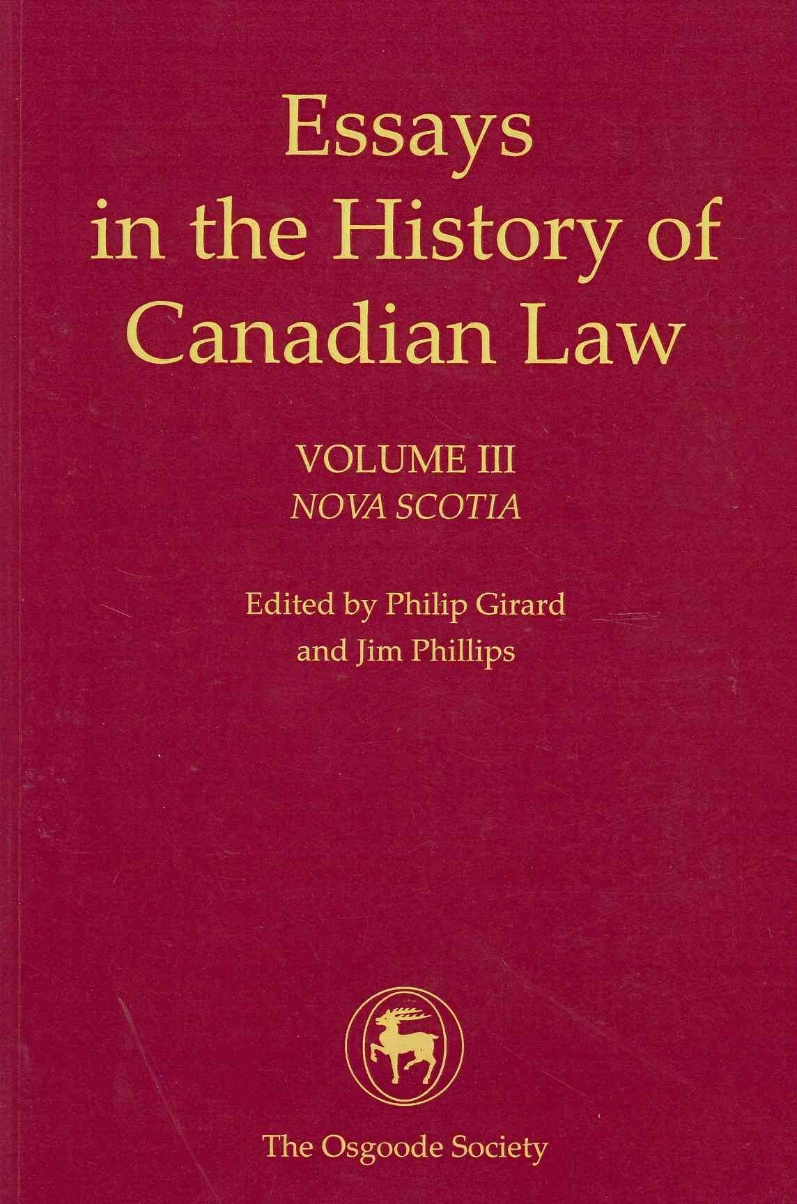 essays history canadian law